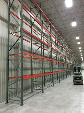 Used pallet racking installation.